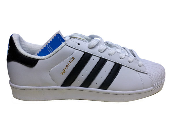Adidas Superstar Leather белые с черным