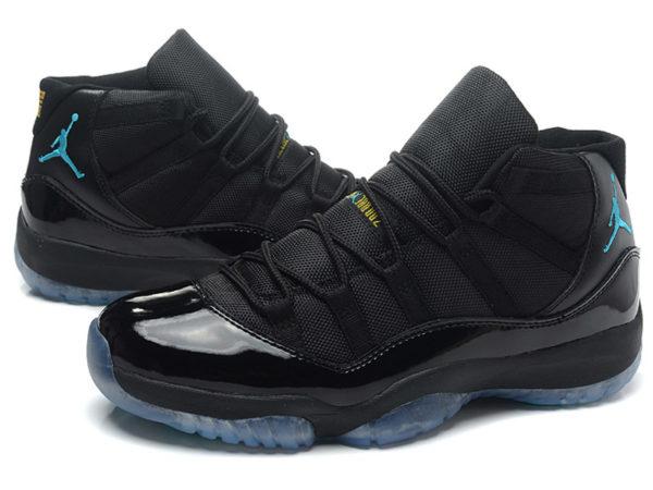 Nike Air Jordan 11 Retro черные с синим (40-45)