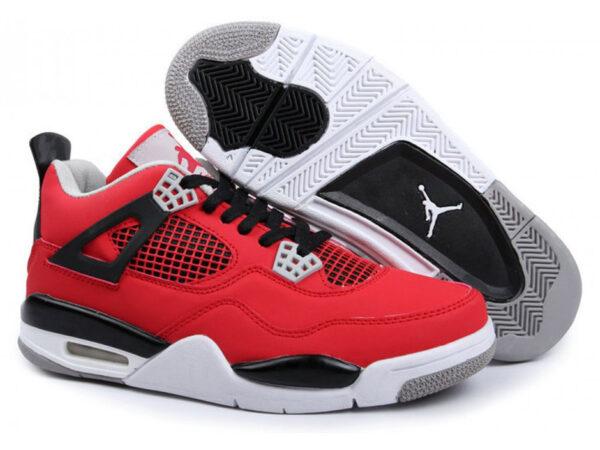 Nike Air Jordan 4 Retro красные (35-41)