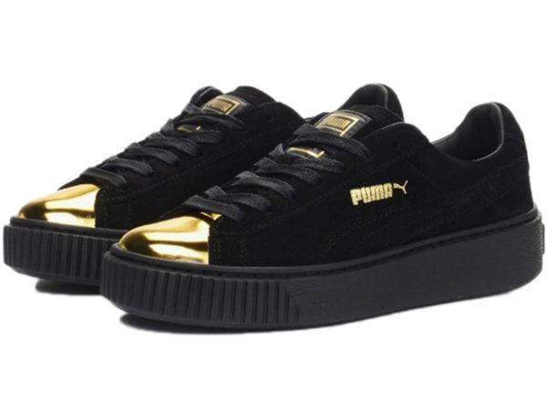 Кроссовки Puma by Rihanna Creeper женские черные с золотым