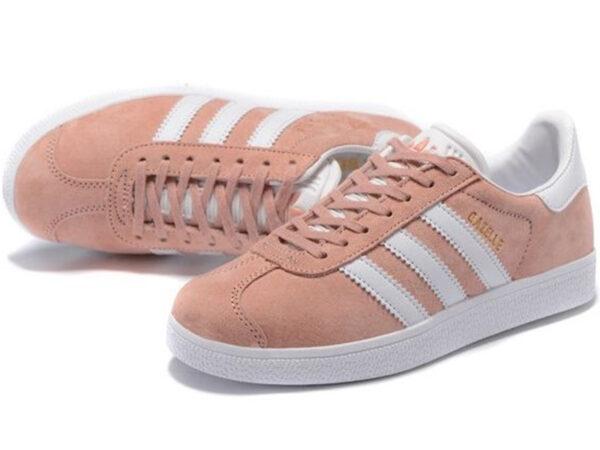 Adidas Gazelle розовые с белым (35-40)