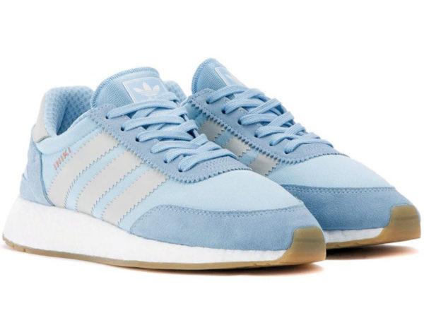 Adidas Iniki Runner Boost голубые с серым