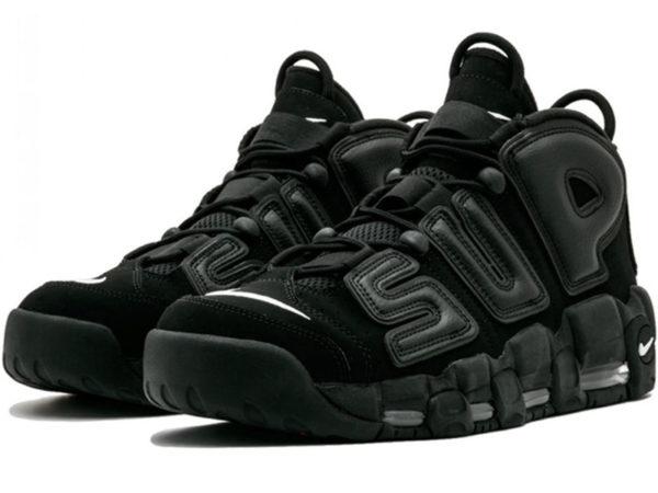 Nike Air More Uptempo X Supreme черные (40-46)