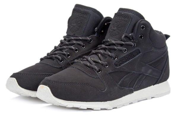 Высокие зимние черные кроссовки