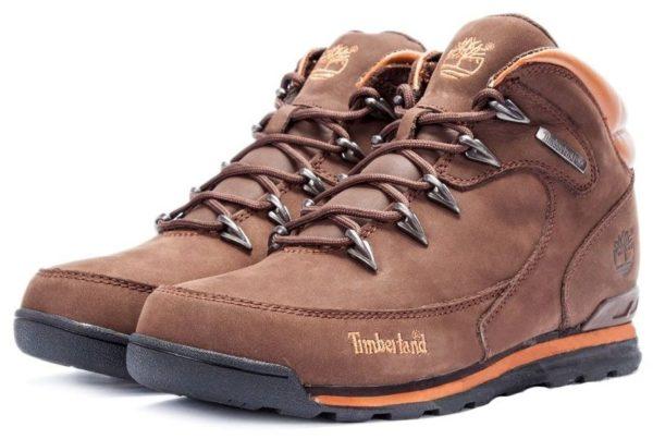 Ботинки Timberland Euro Sprint 2 Brown нубук с мехом коричневые 41-46