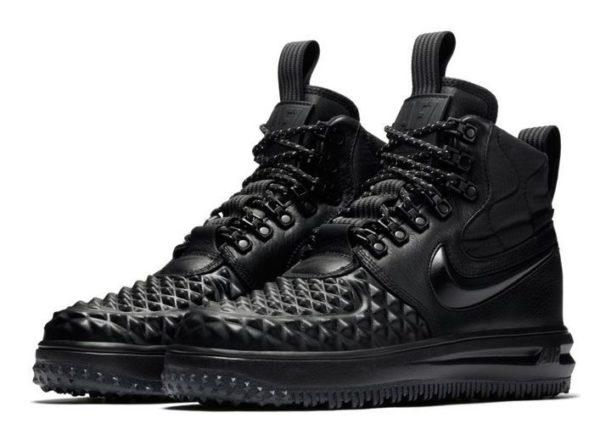 Зимние Nike Air Force 1 с МЕХОМ Lunar Duckboot черные (36-45)
