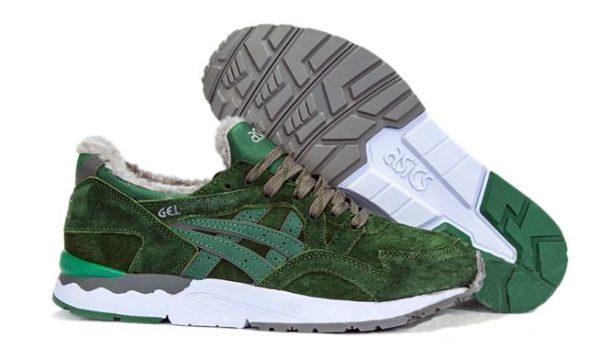 Зеленые кроссовки Asics