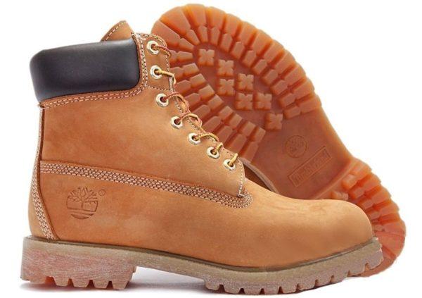 Ботинки Timberland Classic нубук светло-коричневые без меха 36-46