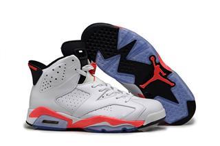 Nike Air Jordan 6 белые с красным (35-45)