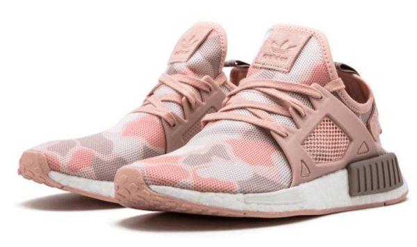 Adidas NMD R1 розовые-камуфляж (35-39)