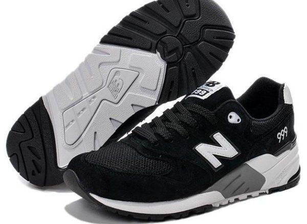 Кроссовки New Balance 999 черные с белым (36-44)