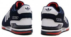 Adidas ZX 750 синие с белым кожа (40-45)