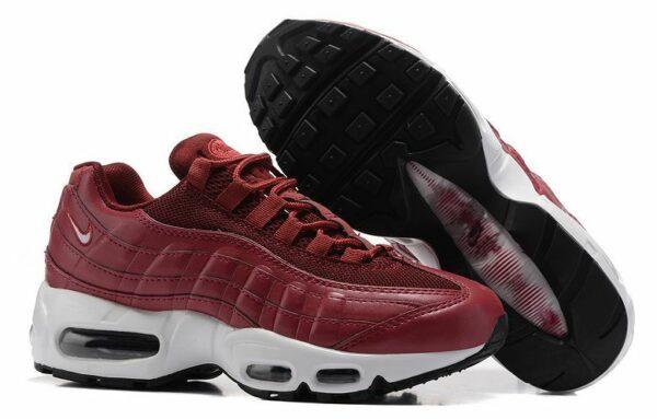 Nike Air Max 95 Essential бордовые-красные (35-40)