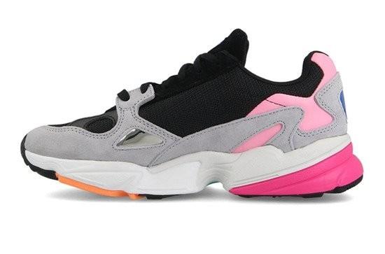 Кроссовки Adidas Falcon серые с розовым (35-39)