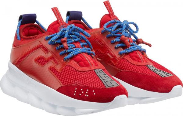 Красные кроссовки Versace