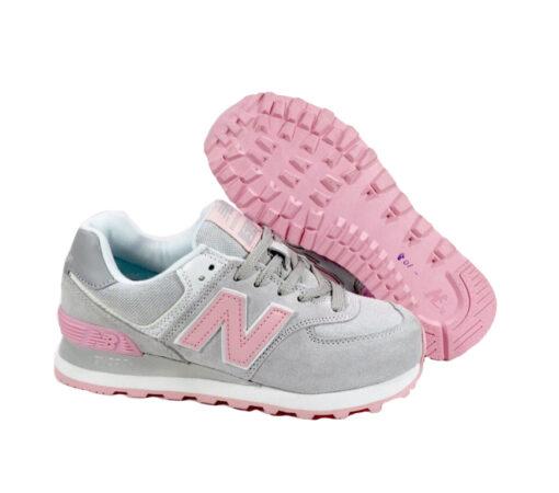 New Balance 574 светло-серые с розовым (35-39)