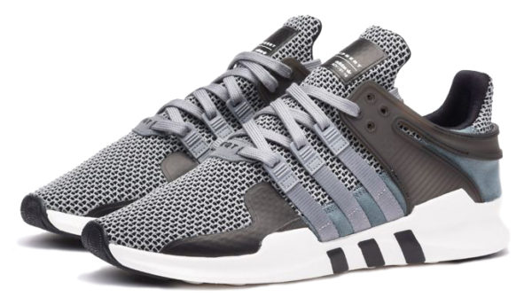 """Adidas EQT Support """"ADV"""" серые с черным (40-44)"""