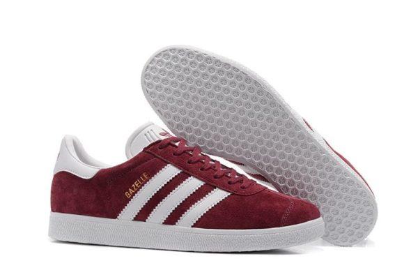 Adidas Gazelle бордовые с белым (35-39)