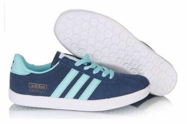 Adidas Gazelle Womens синие с голубым (35-39)