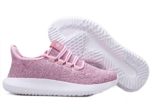 Adidas Tubular Shadow Knit розовые с белым (35-39)