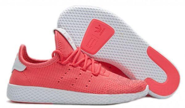 Adidas x Pharrell Williams Tennis Hu малиновые с белым (35-39)