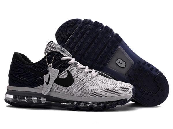Nike Air Max 2017 с сеткой черно-серые (40-44)