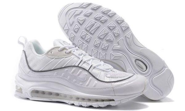 Supreme x Nike Air Max 98 белые (39-44)