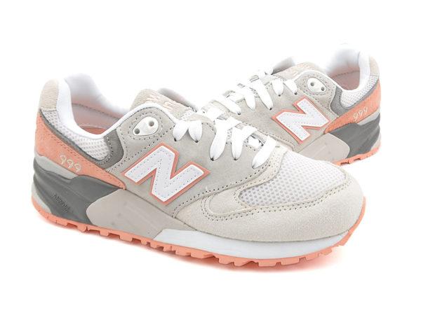 Кроссовки New Balance 999 серые с оранжевым (36-40)