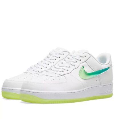 Nike Air Force 1 LV8 белые-зеленые (35-39)