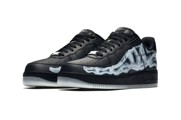 Nike Air Force 1 LV8 черные-скелет кожаные мужские (40-44)
