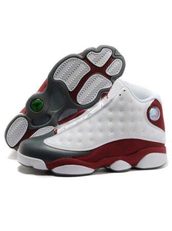 Nike Air Jordan 13 белые с бордовым кожаные мужские (42-44)