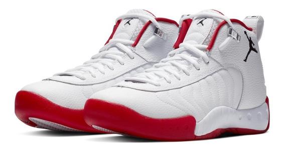 Nike Air Jordan Jumpman Pro белые с красным кожаные мужские (40-44)