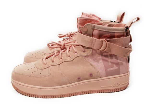 Nike SF Air Force 1 Mid розовые нубук-нейлон женские (35-39)
