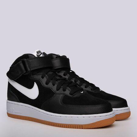 Nike Air Force 1 Mid 07 черные кожа-нубук мужские (40-44)