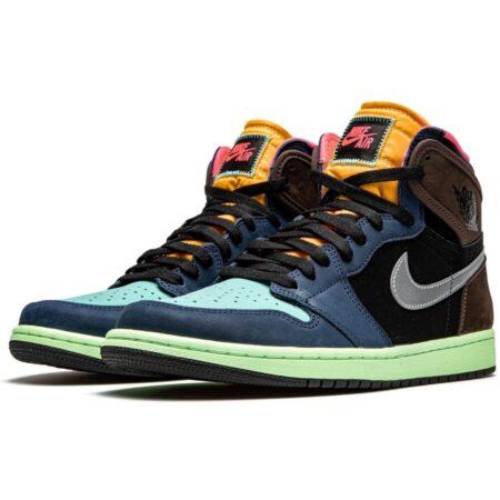 Nike Air Jordan 1 Retro High Tokyo Bio Hack сине-черно-коричневый-голубой (40-44)