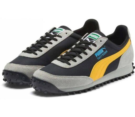 Желтые замшевые кроссовки